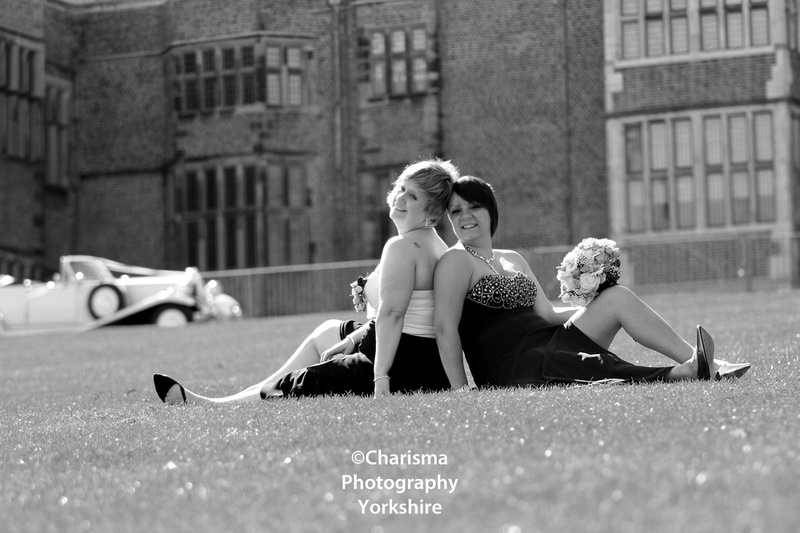 Relaxing Brides at Temple Newsam Wedding