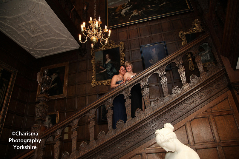 Brides on Stairway at Temple Newsam
