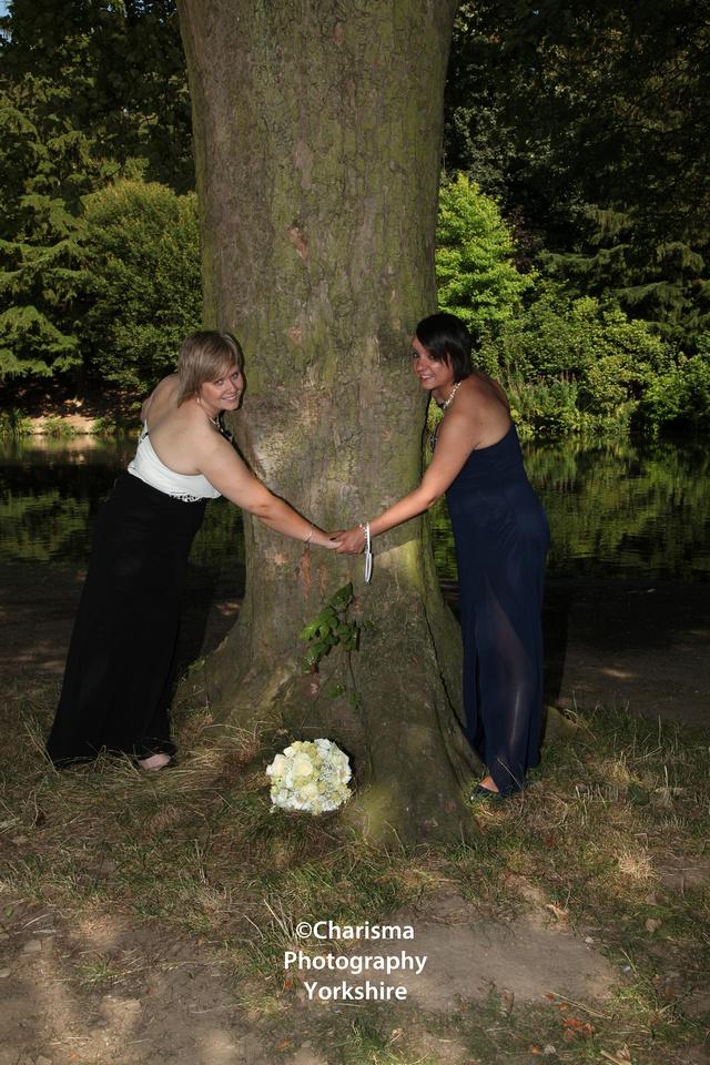 Brides by Tree